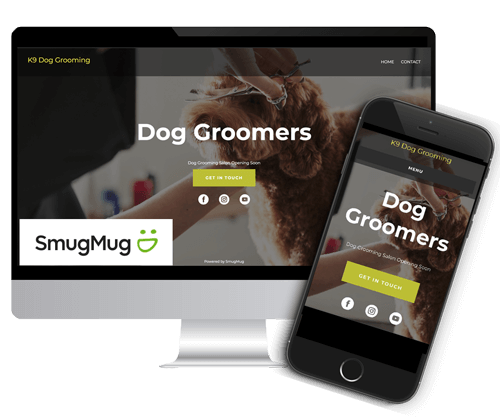how to make a dog groomers website