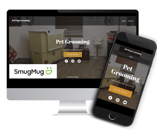 how to make a pet grooming website