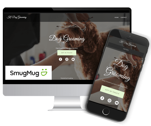 how to make a dog grooming website